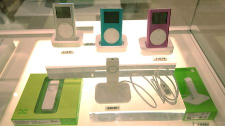 Ipods and accessories for sale in House of Fraser in 2005 when it opened. Picture: Antony Kelly