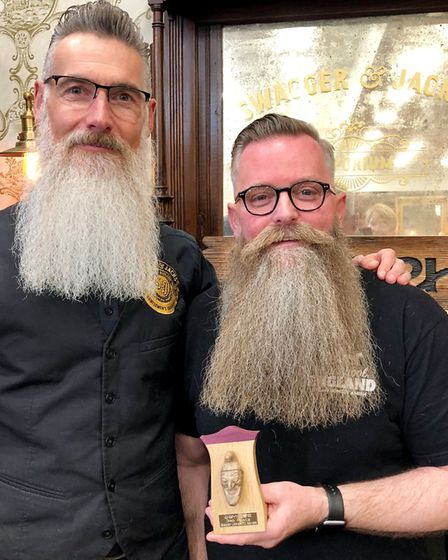 Swagger and Jacks client Brian Mahan came third in his category at the British Beard and Moustache C