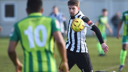 Dereham's Joe Gatting was on target at Grays, but the Magpies ended up losing heavily Picture: Ian B