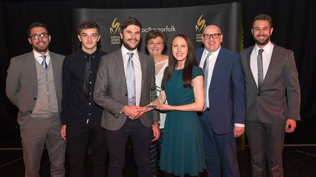 The Sports Team of the Year award went to Norfolk FA Under 18s squad Picture: Steve Adams