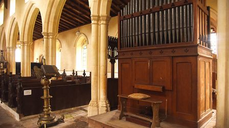 The organ inside St Mary's Church at Wiggenhall St Mary. Picture: Ian Burt