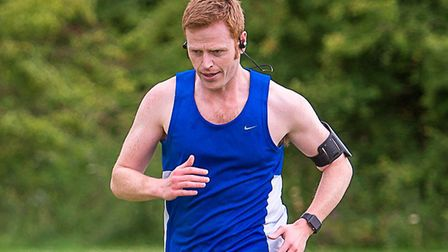 Mark Armstrong on a training run in Long Stratton. Picture: Alison Armstrong Photography