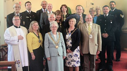 The mayor of Dereham Hilary Bushell has been welcomed into the post for a historic second consecutiv