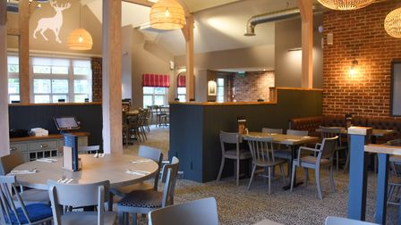 The new look Stag Restaurant revamped after being destroyed by a fire nine months ago at the Breckla
