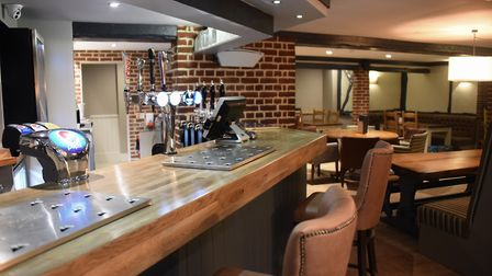The revamped bar after being water and smoke damaged after the fire nine months ago at the Breckland