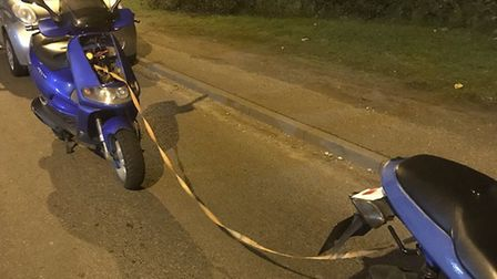 The rider was reported by Great Yarmouth Police for driving other than in accordance with a licence