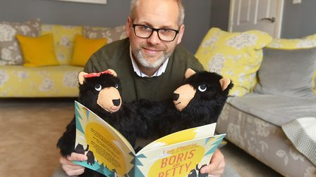 Lee Harris had Boris and Betty figures made to add an extra dimension to any book-signing appearance