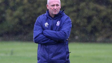 Paul Lambert watches an Ipswich training session Picture: ROSS HALLS