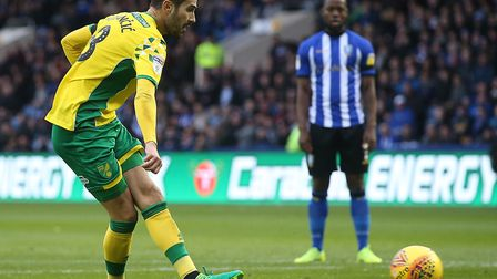 Mario Vrancic was the latest Norwich City player to miss a spot kick in the first half at Hillsborou