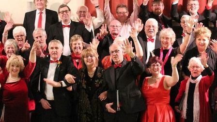 A section of Pakefield Singers choir in festive mood. Picture: Pakefield Singers