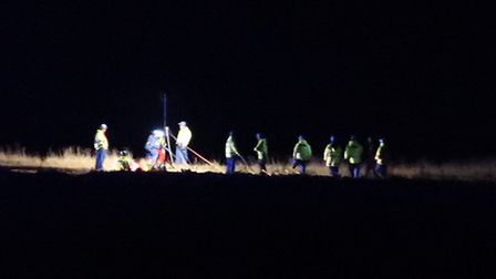 Coastguard rescue teams were sent to rescue a woman and her dogs at Sidestrand. PIC: Stuart Anderson
