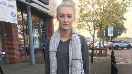 Shannon Cole, 21, was assualted near Pizza Hut on Harwick retail park. Photo: Mary Bush
