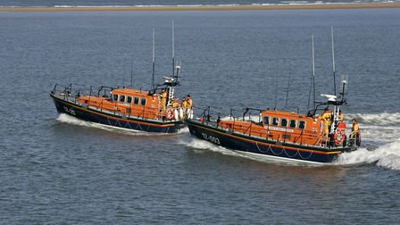 The Wells-based all-weather lifeboat Doris M Mann, right, was involved in the rescue. Picture: COURT