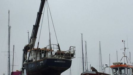 The MV Lainey, which sank in the North Sea on Tuesday, when it joined the fishing fleet in Wells on