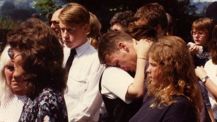 Johanna's funeral in summer 1993. Photo: Archant Library