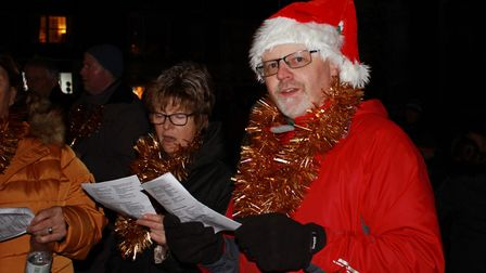 Cromer Gospel Choir entertaining the crowds at the town's Christmas lights switch-on eventPhoto: KAR