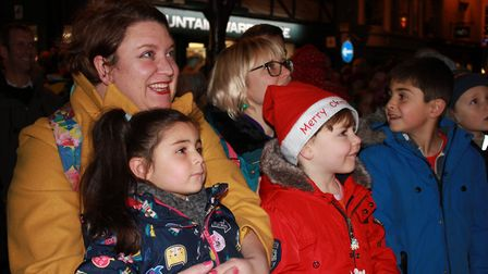 Families watching the entertainment at Cromer's switch-on eventPhoto: KAREN BETHELL
