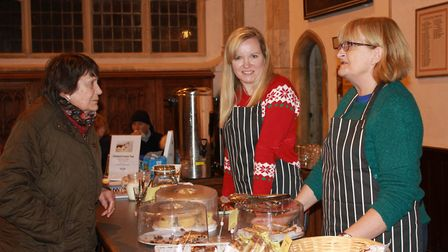 Seasonal fare on offer in the church at Cromer's Christmas lights switch-on event.Photo: KAREN BETHE