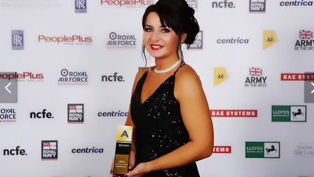 National Apprenticeship Awards winner Alex Burzec, who turned her life around after serving a two-ye