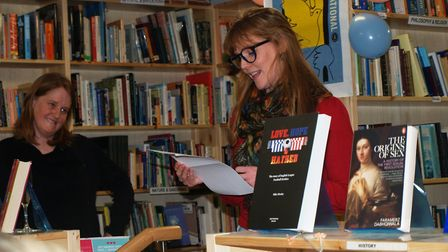 Author Emma Healey at the launch of Amnesty International's new bookshop in Unthank Road, Norwich. P
