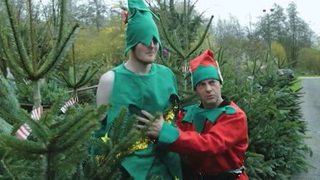 Scene from the cheery Christmas film made by Vincent's Garage near Diss. Picture: Vincent's Garage