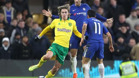 Todd Cantwell made his debut at Chelsea as City were knocked out of the FA Cup on penalties last sea