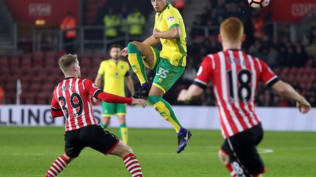 Ben Godfrey featured as Norwich were beaten 1-0 at Southampton in an FA Cup third round replay in Ja