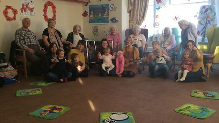 A dementia care home has brought together three generations after they launched a new activity sessi