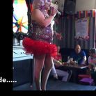 Screenshots from a video of Andrew Livingstone's drag act Miss Tish Ewe. Photo: YouTube