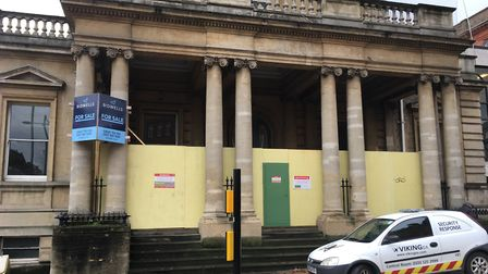 Hardwick House, once one of Norwich's finest buildings, is boarded up and now available to let. Pic: