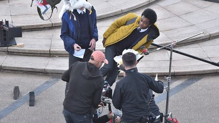 BBC filming on Cromer Pier in October. Picture: Sonya Duncan