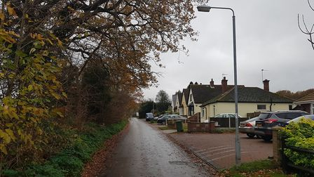 Sandy Lane in Belton, where the attempted robbery took place.