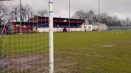 The main pitch at Thetford Town FC. Photograph Simon Parker