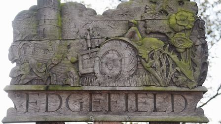 The Edgefield village sign. Picture: DENISE BRADLEY