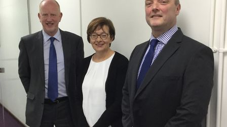 Mark Adamson, right, chief executive of the Evolution Academy Trust, is stepping down. Pictured with