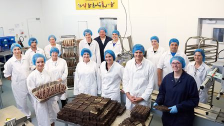 The team at Gnaw Chocolate's factory in Hall Road, Norwich. Picture: Gnaw Chocolate.