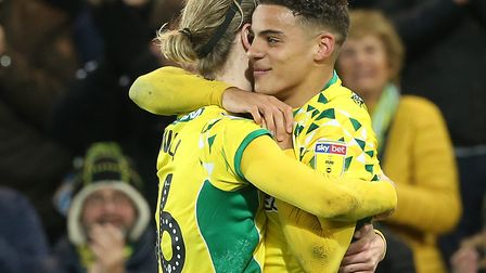 Norwich City academy products Max Aarons and Todd Cantwell were prominent against Rotherham Picture: