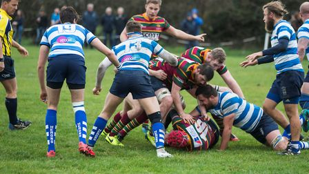 Action from Norwich's defeat at Wanstead line Picture: Andy Micklethwaite