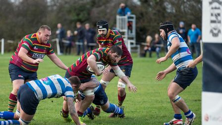 Dave Micklethwaite in action during Norwich's match at Wanstead Picture: Andy Micklethwaite