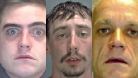 Robert Hisgrove (left), Sean Robertson (centre) and Gary Nathan (right) were all jailed in November.