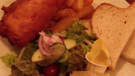 Fish and chips at the Green Dragon. Picture: Archant