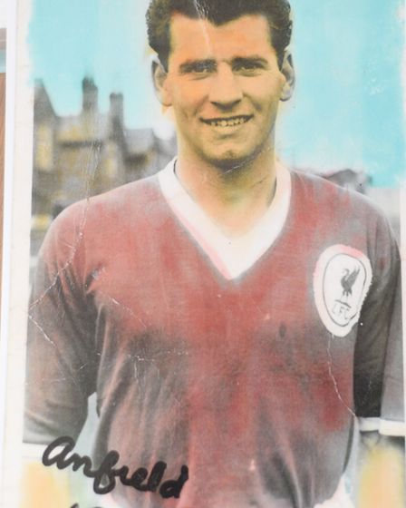Frank Lockey back in his Liverpool playing days in the 1957-8 season. Photo: Supplied by the Lockey
