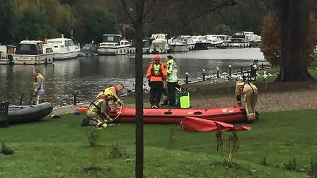 The Coastguard assisted the police, fire service and ambulance to rescue a man from Thorpe Island af
