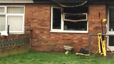 Fire crews attended the incident on Pound Green Close in Shipdham, near Dereham. Picture: Dan Bennet