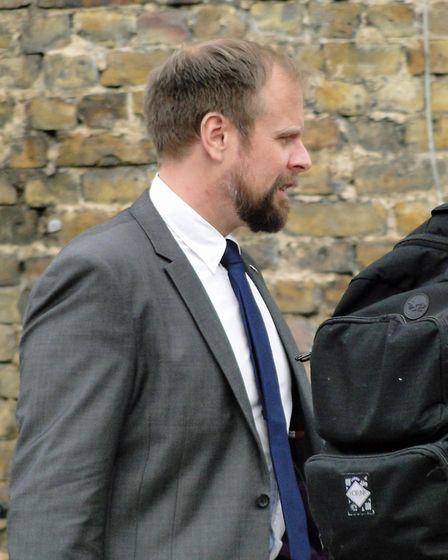 Oliver Darby arriving at Inner London Crown Court. Picture: UK LAW NEWS