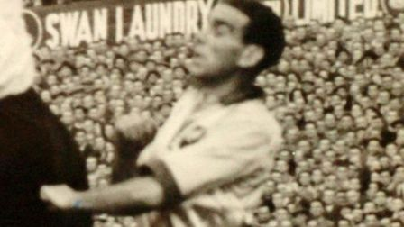 Norman Low captained City against Portsmouth in 1950 Photo: Archant library