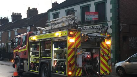 Fire crews were called to a blaze in a stable behind the the former Magpie Pub in Norwich. Picture D
