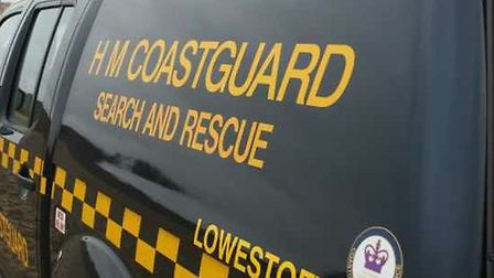 Coastguard rescue officers were called out. Photo: HM Coastguard Lowestoft and Southwold.