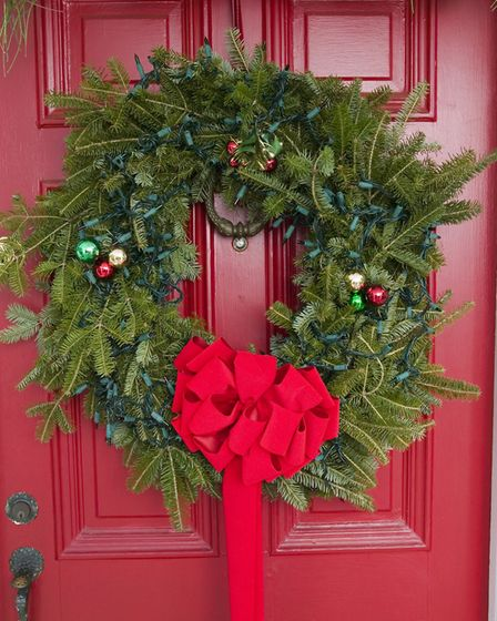 This could be the year your door wears a festive wreath. Picture Getty Images