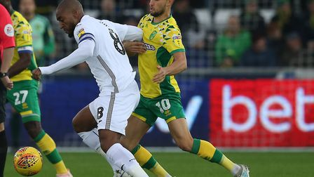 Moritz Leitner in action during City's 4-1 win at Swansea on Saturday Picture: Paul Chesterton/Focus